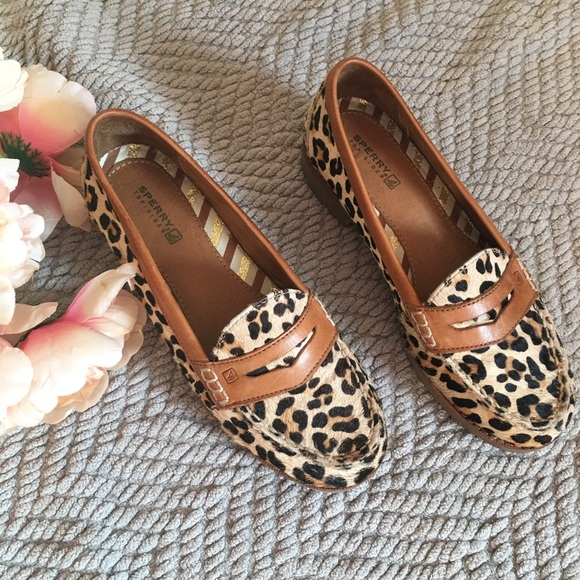 a90c2e524dd Leopard Penny Loafers in Pony Hair By Sperry. M 5ad7f0c89cc7ef4afababf02